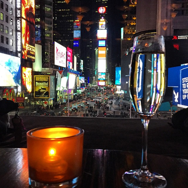 Ending our last night in NYC with drinks overlooking Times Square.  I mean really, can you beat this view? ?????