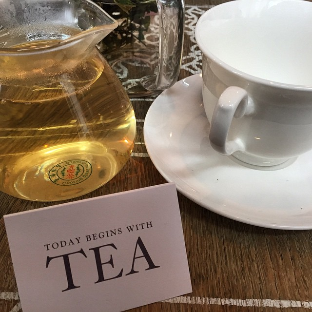 Today begins with Tea.... It does in the UK at least! ?